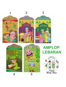 HO3408W - Amplop/ Angpao Lebaran Idul Fitri Sakinah isi 8 pc (Medium)