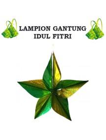 HO3423 - Hiasan Lampion Gantung Bintang Ornament Idul Fitri