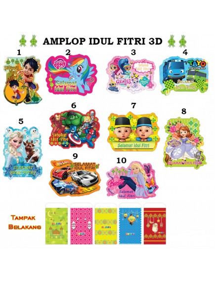 HO3431W - Amplop/Angpao 3D Idul Fitri isi 5pc