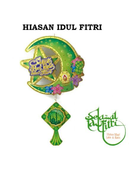 HO3432 - Hiasan Gantung Hijau Lebaran Idul Fitri 3D