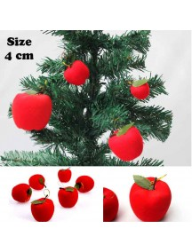 HO1373 - Christmas Tree Ornament Dekorasi Natal Apple (4 cm)