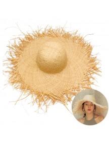 HO3443W - Topi Pantai Straw Brim Beach Hat