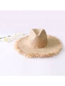 HO3447 - Topi Pantai Fisherman Straw Brim Beach Hat