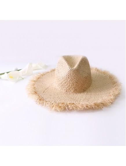 HO3447 - Topi Pantai Fisherman Straw Brim Beach Hat
