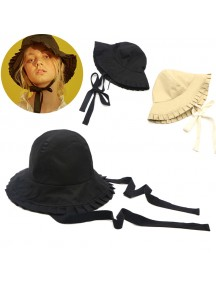 HO3449W - Topi Cotton Pleated Bucket Beach Hat