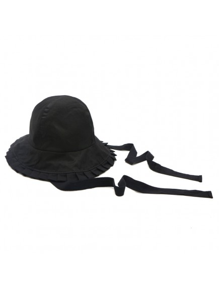 HO3449W - Topi Cotton Pleated Bucket Beach Hat
