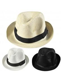 HO3454W - Topi Pantai Jazz Unisex Straw Beach Hat