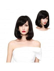 HO3461 - Hair Wig / Rambut Palsu Pendek Bob Natural Wavy (Natural Black)