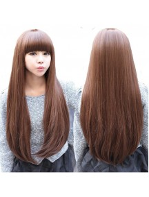 HO4362 - Hair Wig / Rambut Palsu Panjang Natural (Light Brown)