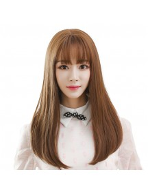 HO3463 - Hair Wig / Rambut Palsu Korea Sedang Natural (Light Brown)