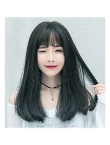 HO3464 - Hair Wig / Rambut Palsu Korea Sedang Natural (Natural Black)