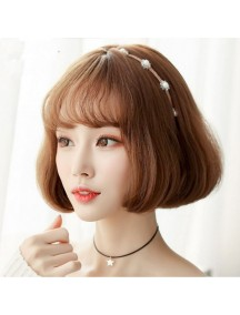 HO3467 - Hair Wig / Rambut Palsu Pendek Natural (Light Brown)