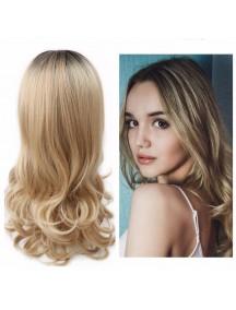 HO3472 - Hair Wig / Rambut Palsu Panjang Curly Blonde Ombre