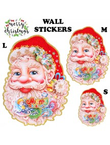 HO3478 - Dekorasi Dinding Christmas Santa Claus Sticker Dinding 2 pc Set (Medium)