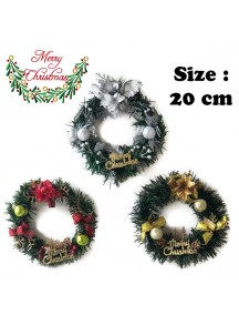 HO3485W - Christmas Decoration Wreath Ring Hias Natal (20 cm)