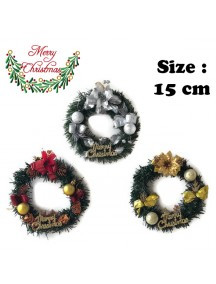 HO3486W - Christmas Decoration Wreath Ring Hias Natal (15 cm)
