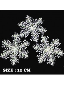HO5085 - Christmas Decoration Tree Ornament SnowFlake Natal Salju (11 CM)