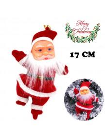 HO5383 - Christmas Ornament Santa Claus Hanging Doll (17cm)