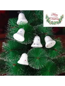 HO5385 - Christmas Ornament Foam Bell Salju Dekorasi Natal 6pc (6cm)