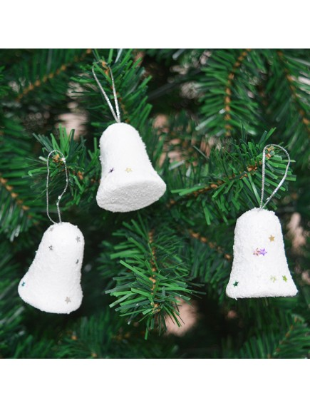 HO5386 - Christmas Ornament Foam Bell Dekorasi Natal 6pc (8cm)