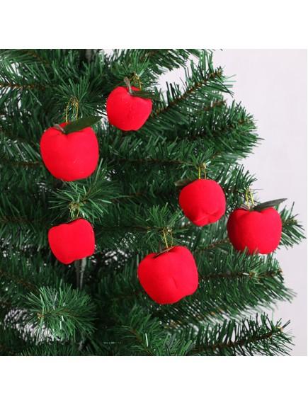 HO5387 - Christmas Tree Ornament Dekorasi Natal Apple (6 cm)