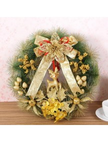 HO5390 - Christmas Decoration Wreath Hiasan Pintu Gold Rusa