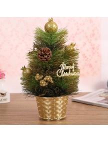 HO5391 - Christmas Decoration Desktop Tree Pot Gold