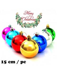 HO5394W - Christmas Ornament Bola Natal Jumbo (15 cm/pc)