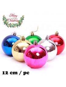 HO5395W - Christmas Ornament Bola Natal Big (12 cm/pc)