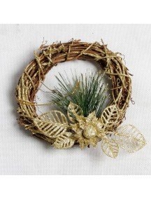 HO5405 - Christmas Decoration Rustic Gold Wreath