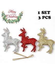 HO5407 - Christmas Ornament Elk Tree Decoration 3pc