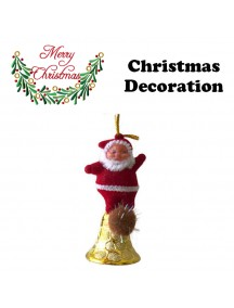 HO5408 - Christmas Ornament Santa Bell Tree Decoration 1pc
