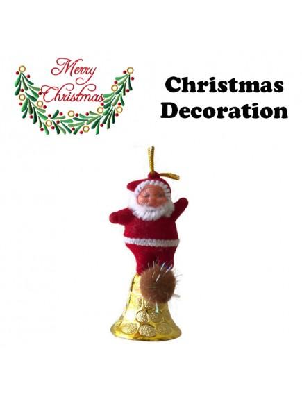 HO5408 - Christmas Ornament Santa Bell Tree Decoration 1pc
