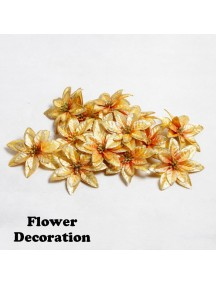 HO5409 - Flower Decoration Bunga Glitter 1pc (Random Color)