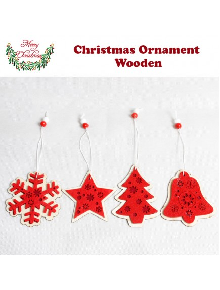 HO5416W - Christmas Ornament Wooden Hanging Decoration