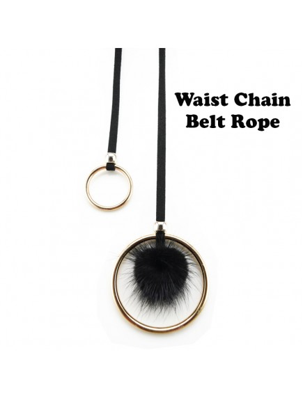 HO5421 - Tali Pinggang Round Simple Waist Rope Fur