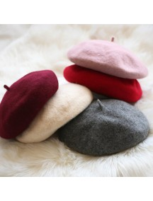 HO3457W - Topi Pelukis Cantik Color Painter Beret Hat