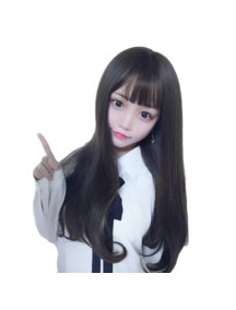 HO3399 - Hair Wig / Rambut Palsu Panjang Natural Wave (Natural Black)