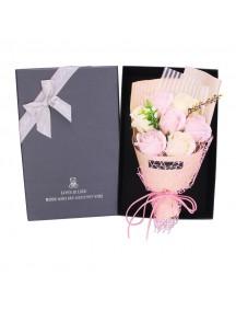 HO5422W - Valentine's Day Rose Soap Flower Bouquet Sabun