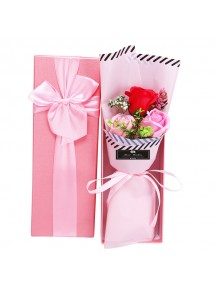 HO5424W - Valentine's Day Rose Soap Flower 3 Bouquet
