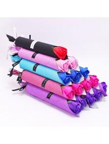 HO5426W - Valentine's Day Rose Soap Flower Single