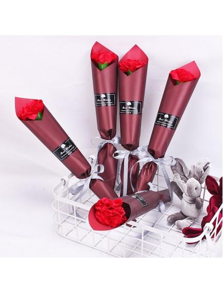 HO5427W - Valentine's Day Carnation Soap Flower Single