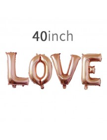 HO5434W - Love Balloon Foil Balon Cinta Jumbo Set (4pc)