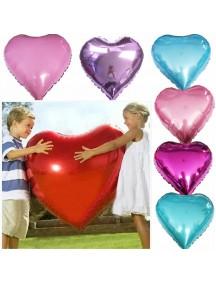 """HO5435W - Heart Balloon Foil Balon Cinta Heart Nitrogen/Helium 18"""""""