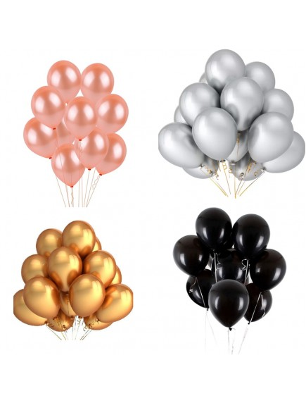"HO5444W - Balloon Latex Metallic Series Balon 10"" /Pc"