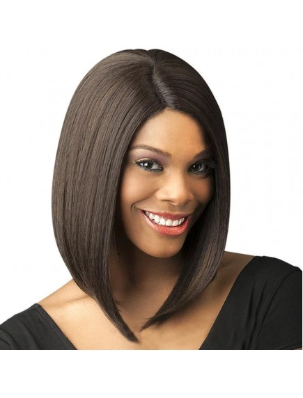 HO5446 - Hair Wig / Rambut Palsu Tebal Medium Bob Straight (Dark Brown)