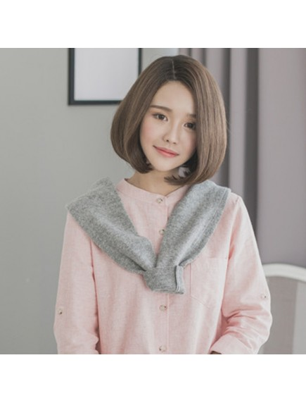HO5447 - Hair Wig / Rambut Palsu Bob Straight (Brown)