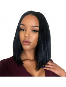 HO5448 - Hair Wig / Rambut Palsu Premium Bob Straight (Natural Black)