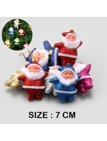 HO5454 - Christmas Tree Ornament Natal Colorful Santa (6pc) 7 CM
