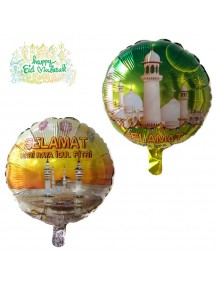 HO5463 - Hiasan Balon Bulat Foil Hari Raya Ornament Idul Fitri